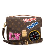 Louis Vuitton Monogram Patches Pochette Metis of Coated Canvas with Golden Brass Hardware