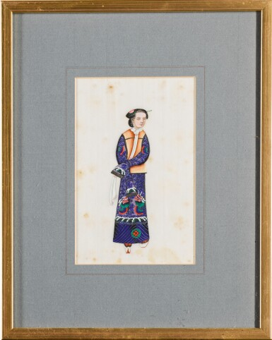 View 12. Thumbnail of Lot 163. A set of fourteen Chinese paintings on silk, Canton, 19th century.