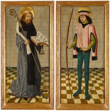 View 2. Thumbnail of Lot 111. Saint Anthony Abbot; Saint Sebastian.