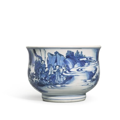 View 2. Thumbnail of Lot 519. A BLUE AND WHITE CENSER,  MING DYNASTY, CIRCA 1640 .