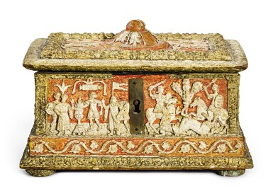 View 2. Thumbnail of Lot 723. Casket with classical subjects.