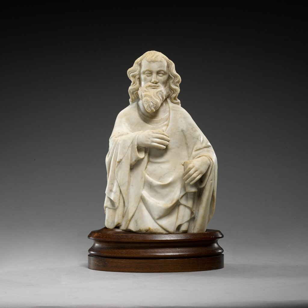 FRENCH OR GERMAN, COLOGNE, FIRST HALF 14TH CENTURY | HALF FIGURE OF A MALE SAINT