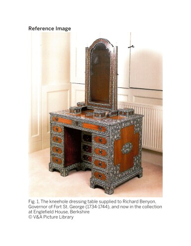 View 10. Thumbnail of Lot 175. AN ANGLO-INDIAN IVORY INLAID ROSEWOOD WRITING OR DRESSING TABLE, VIZAGAPATAM, MID-18TH CENTURY.