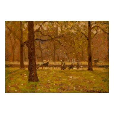 ALGERNON TALMAGE | GLITTERING LEAVES IN HYDE PARK, LONDON