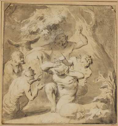 ATTRIBUTED TO GONZALES COQUES | Fauns in the wood