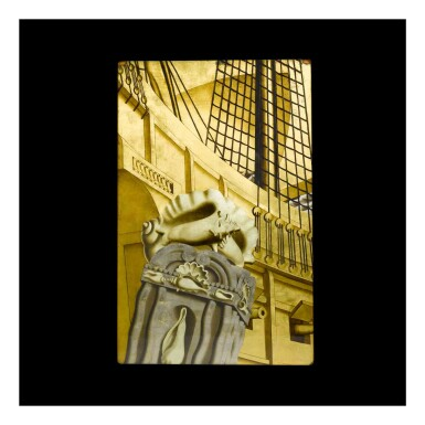 """View 1. Thumbnail of Lot 347. Panel from """"The Birth of Aphrodite"""" Mural from the Grand Salon of the S. S. Normandie."""