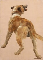 Study of the Dog of Homѐre et son guide