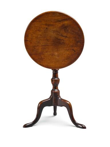 A GEORGE III MAHOGANY TILT-TOP TRIPOD TABLE, LATE 18TH CENTURY