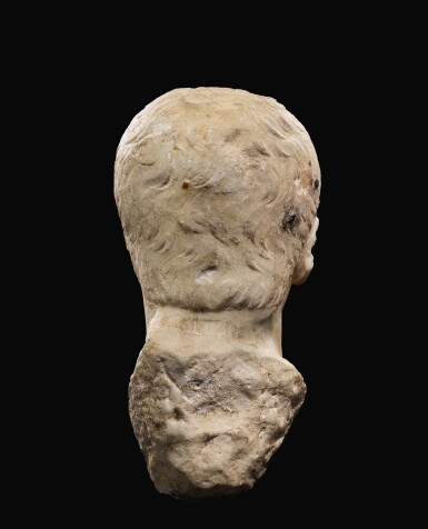 View 5. Thumbnail of Lot 40. A ROMAN MARBLE PORTRAIT HEAD OF A YOUTH, JULIO-CLAUDIAN, EARLY 1ST CENTURY A.D..