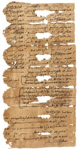 A COLLECTION OF FRAGMENTS ON PAPYRUS AND VELLUM, EGYPT, 9TH CENTURY AD AND LATER