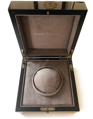 View 6. Thumbnail of Lot 540. Midnight, Ref. 450-MAS42W White gold skeletonized wristwatch Circa 2015   海瑞溫斯頓 450-MAS42W型號「Midnight」白金鏤空腕錶,年份約2015.