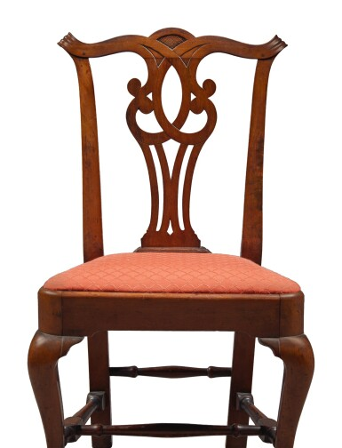 Important Chippendale Carved Mahogany Compass Seat Side Chair, Attributed to John Townsend (1733-1809), Newport, Rhode Island, circa 1770
