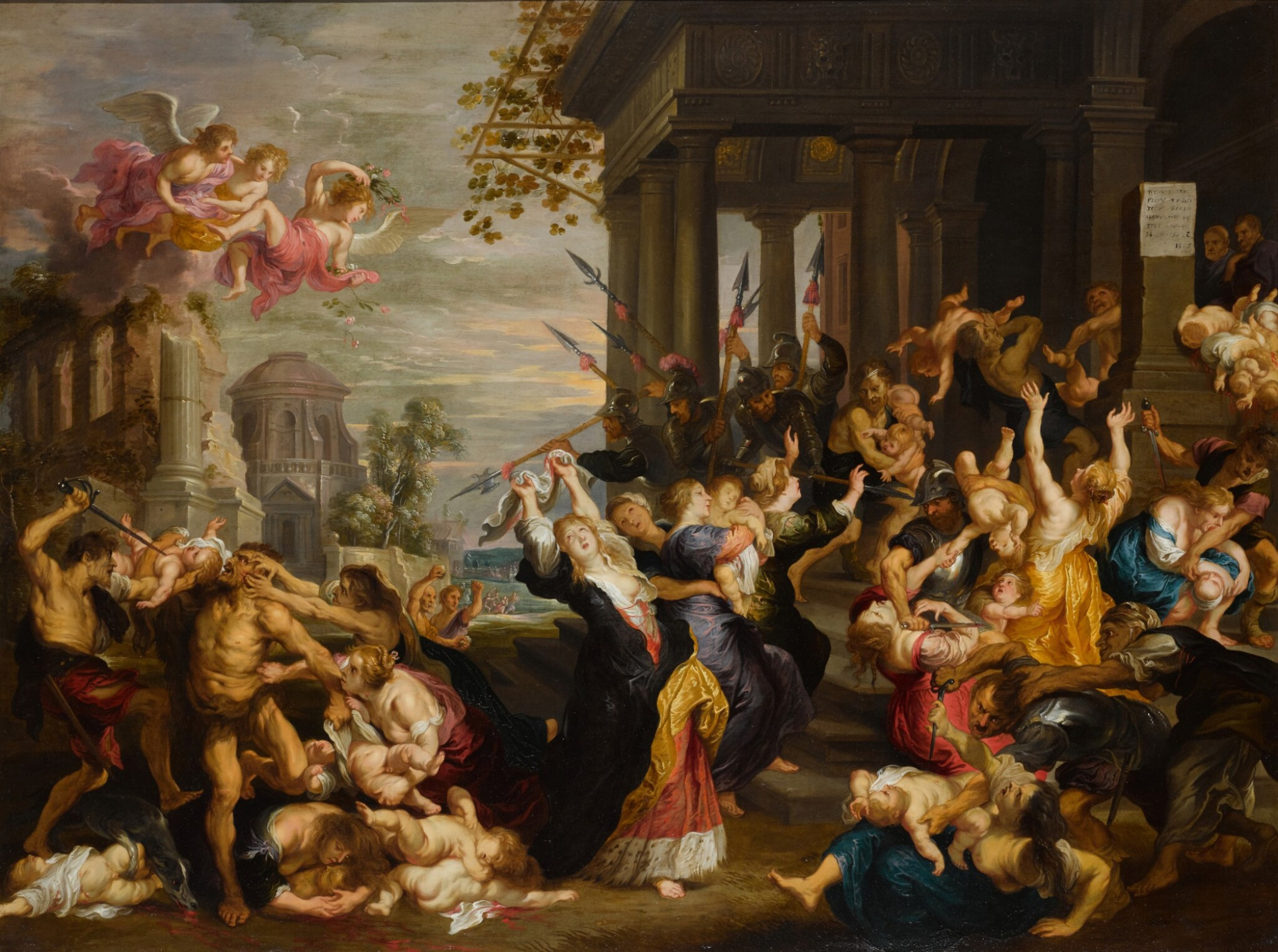 View 1 of Lot 134. The Massacre of the Innocents, after Rubens.