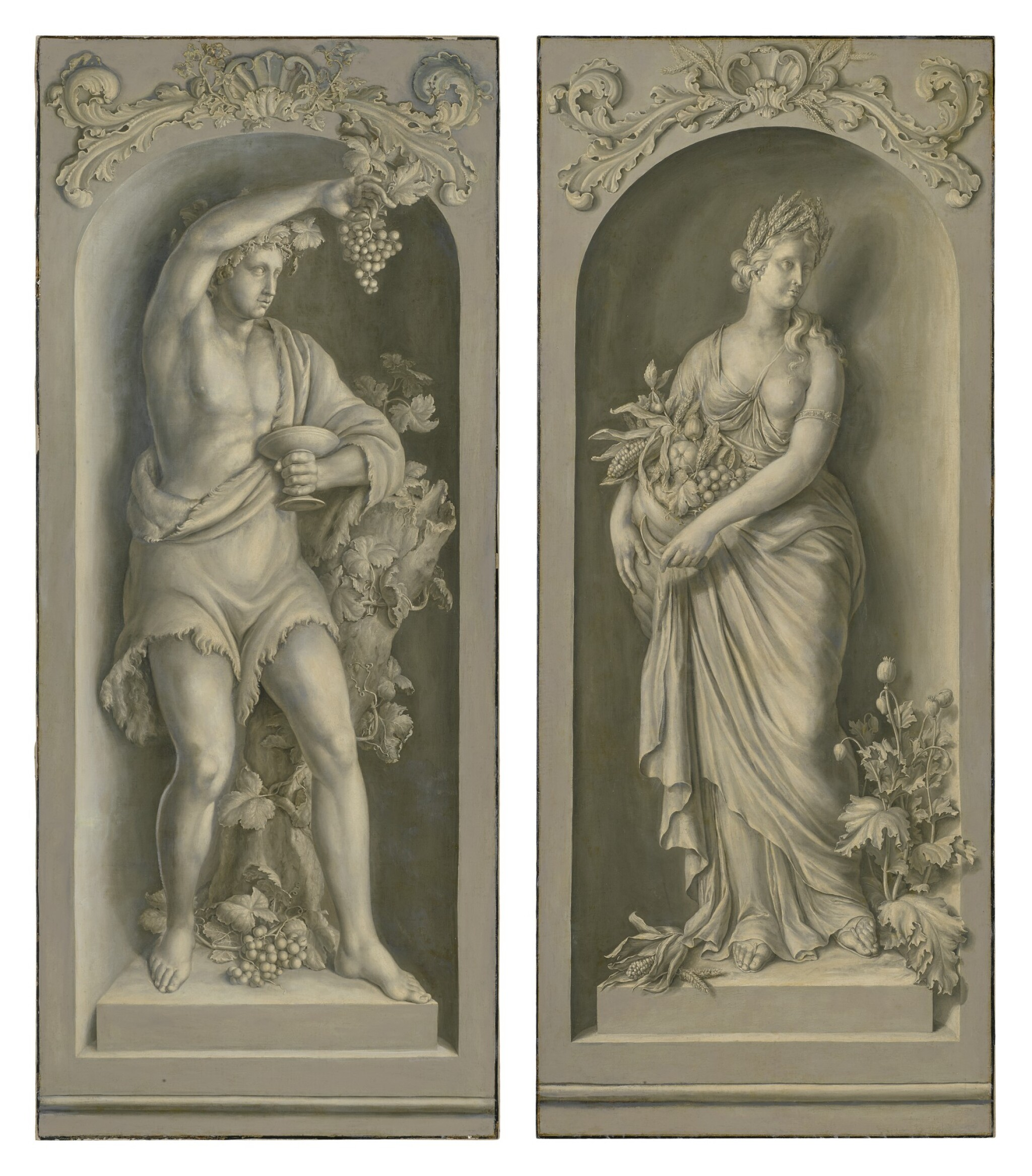 DUTCH SCHOOL, 18TH CENTURY | BACCHUS AND CERES, A PAIR