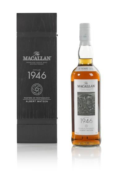 View 3. Thumbnail of Lot 6. The Macallan Fine & Rare 56 Year Old Albert Watson 44.3 abv 1946.