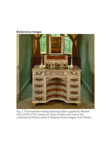 View 11. Thumbnail of Lot 175. AN ANGLO-INDIAN IVORY INLAID ROSEWOOD WRITING OR DRESSING TABLE, VIZAGAPATAM, MID-18TH CENTURY.