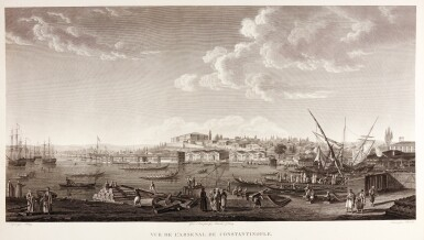 View 3. Thumbnail of Lot 79. Melling. Voyage pittoresque de Constantinople. 1819. 2 volumes. folio. plates edge-bound. The Atabey copy.