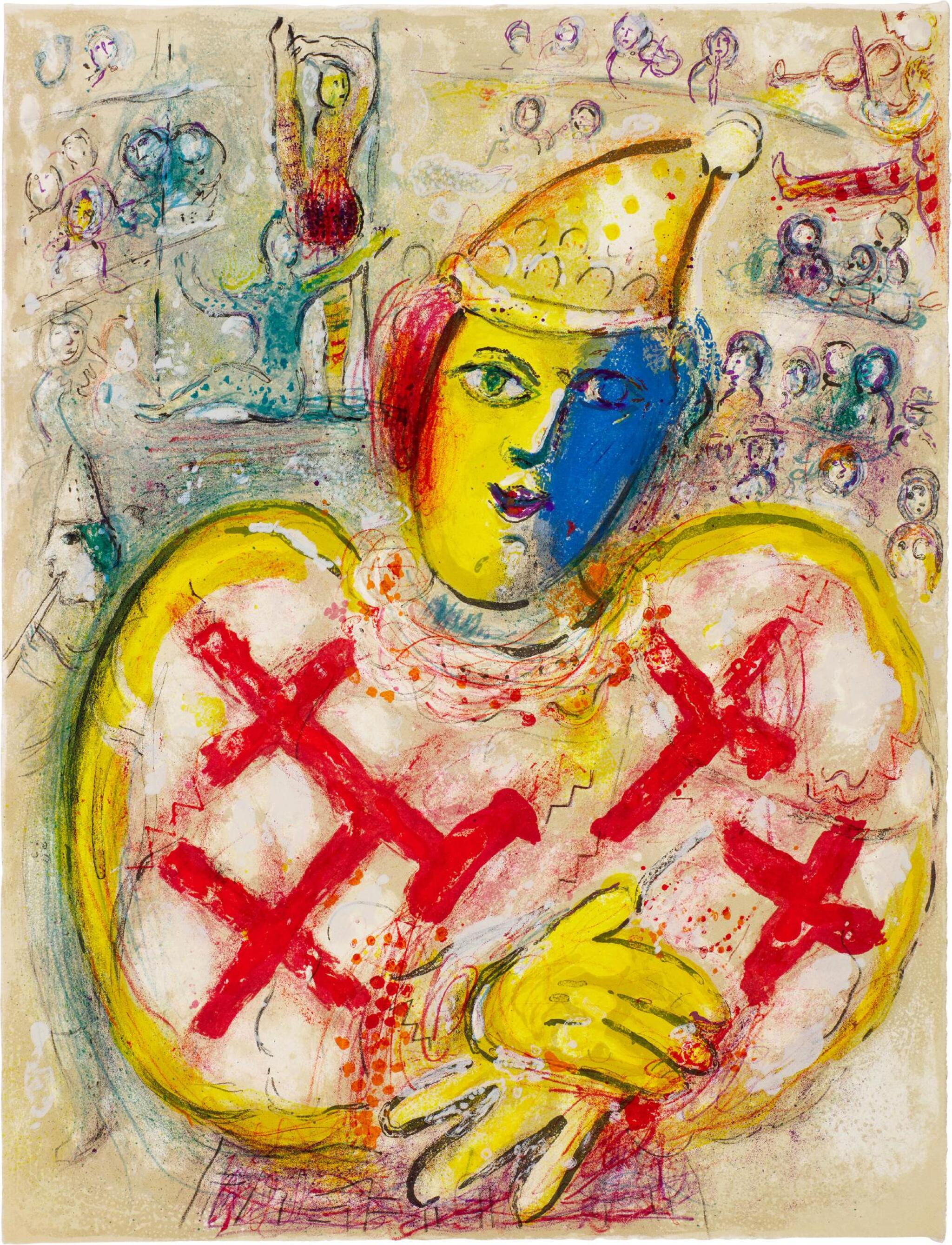 View full screen - View 1 of Lot 30. MARC CHAGALL | LE CIRQUE: ONE PLATE (M. 499; C. BKS. 68).