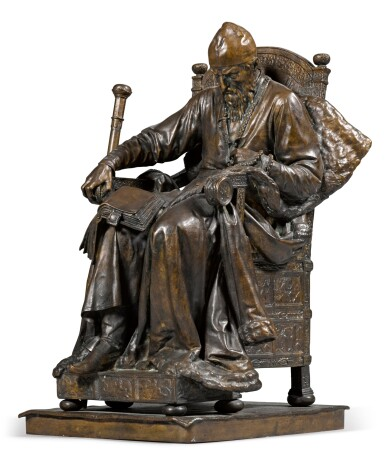 View 2. Thumbnail of Lot 283. Ivan the Terrible: a bronze figure, after the model by Mark Antokolsky (1843-1902).