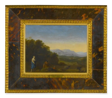 View 2. Thumbnail of Lot 52. Sold Without Reserve | CIRCLE OF CORNELIS VAN POELENBURGH | ROLLING LANDSCAPE WITH SHEPHERDS AND CATTLE.