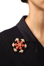 CORAL AND DIAMOND BROOCH, TIFFANY & CO.