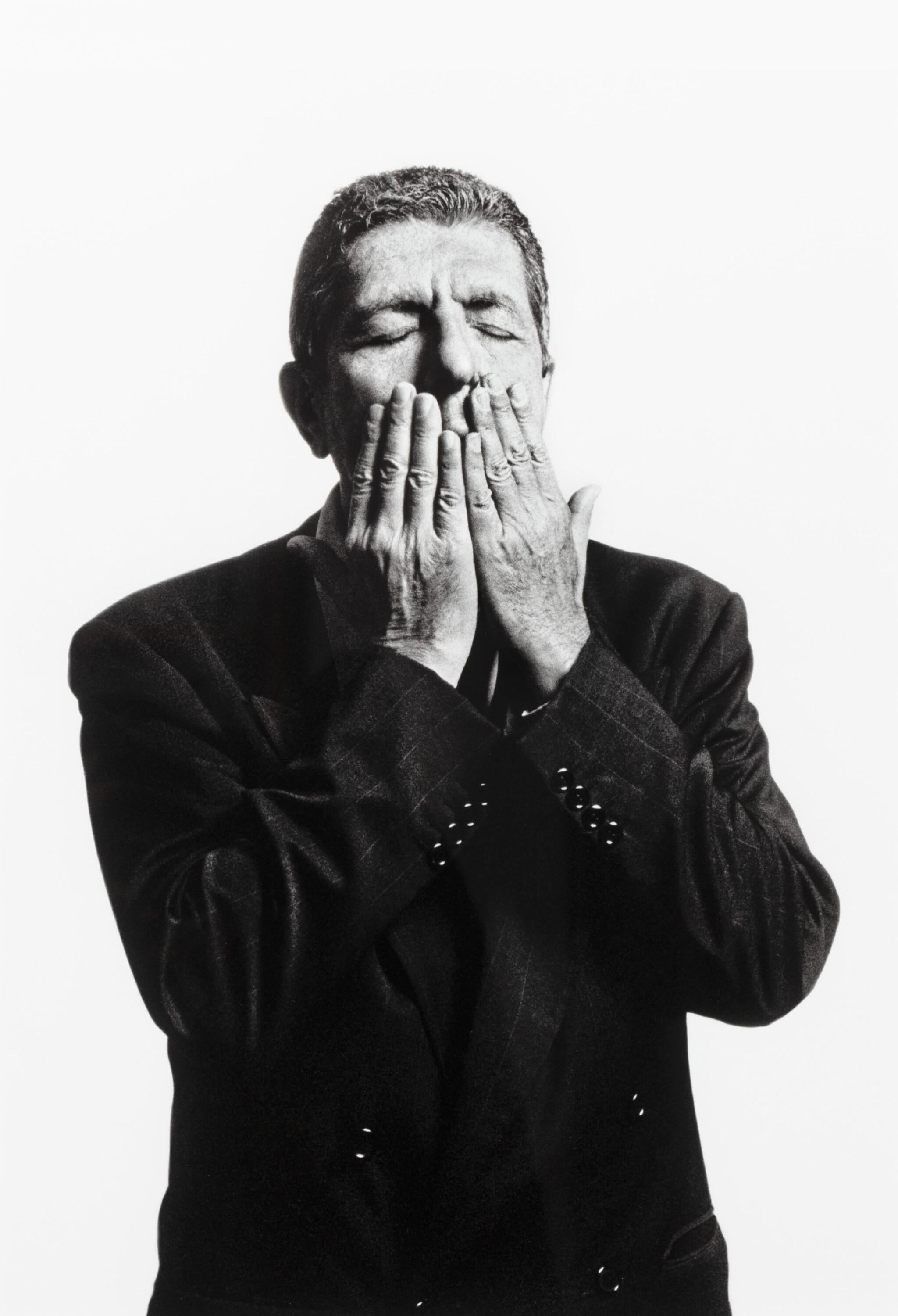 View full screen - View 1 of Lot 159. Leonard Cohen, Paris 1994.