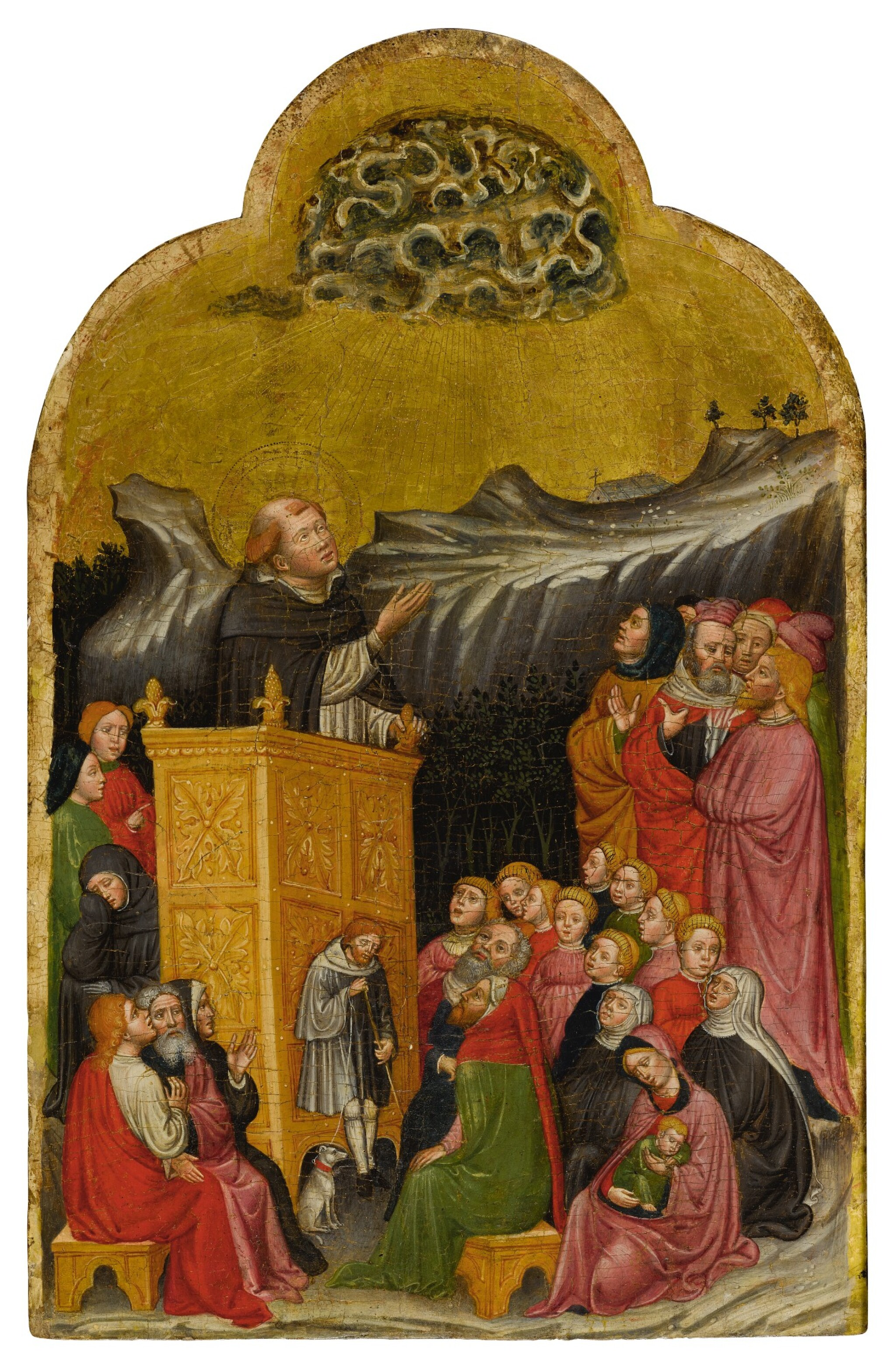 View full screen - View 1 of Lot 508. The Sermon of St. Peter Martyr.