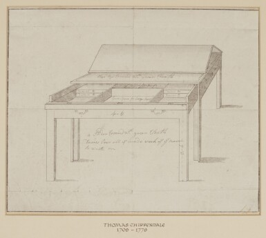 ENGLISH SCHOOL, 18TH CENTURY | Design for an architect's table