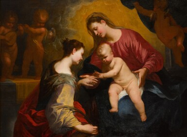 View 1. Thumbnail of Lot 125. The Mystic Marriage of Saint Catherine.