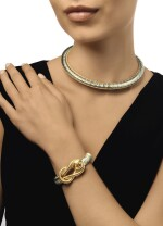 CARTIER | GOLD, STEEL AND CITRINE NECKLACE AND BRACELET