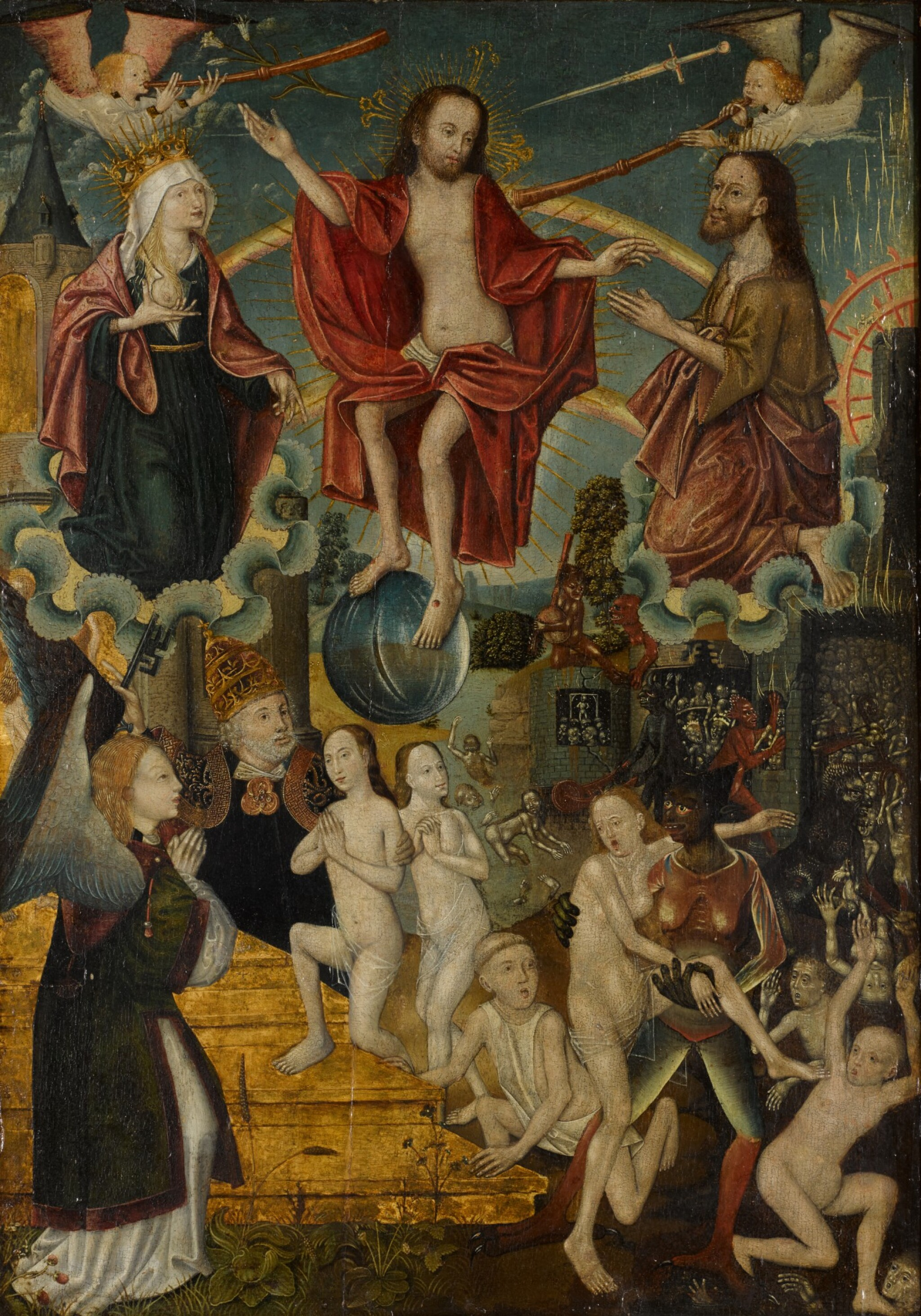 View full screen - View 1 of Lot 107. SCHOOL OF COLOGNE, CIRCA 1500 | The Last Judgement.