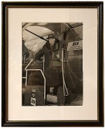 [Winston Churchill] — Paul Popper Ltd., photographer | Vintage black and white silver gleatin print, signed by Churchill, 1957