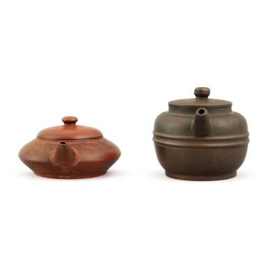 View 4. Thumbnail of Lot 25. A Yixing teapot and cover, Republic period.