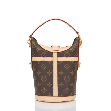 View 4. Thumbnail of Lot 55. Louis Vuitton Monogram Duffle Bag PM of Coated Canvas and Gold Tone Hardware.