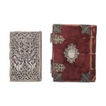 TWO SILVER BOOK BINDINGS, 19TH CENTURY