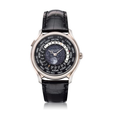 View 8. Thumbnail of Lot 61. REFERENCE 5575G-001 A LIMITED EDITION WHITE GOLD WORLDTIME WRISTWATCH WITH MOON PHASES, MADE TO COMMEMORATE THE 175TH ANNIVERSARY OF PATEK PHILIPPE, CIRCA 2015.