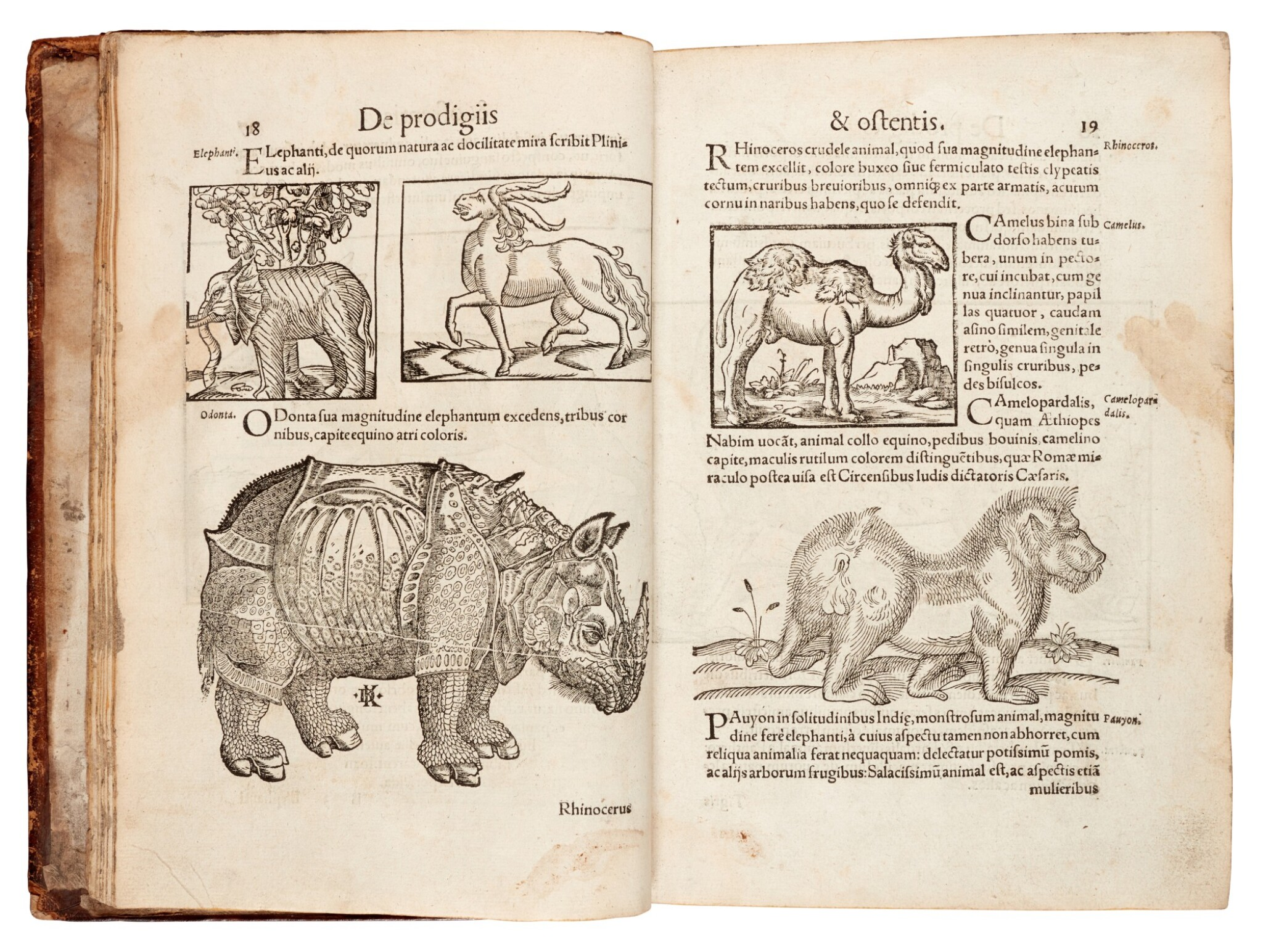View full screen - View 1 of Lot 168. Lycosthenes, Prodigiorum ac ostentorum chronicon, Basel, 1557, later calf.