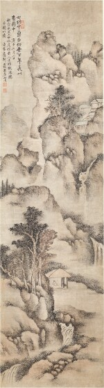 Dai Benxiao 1621 - 1693 戴本孝 1621-1693   Viewing the Waterfall 山水