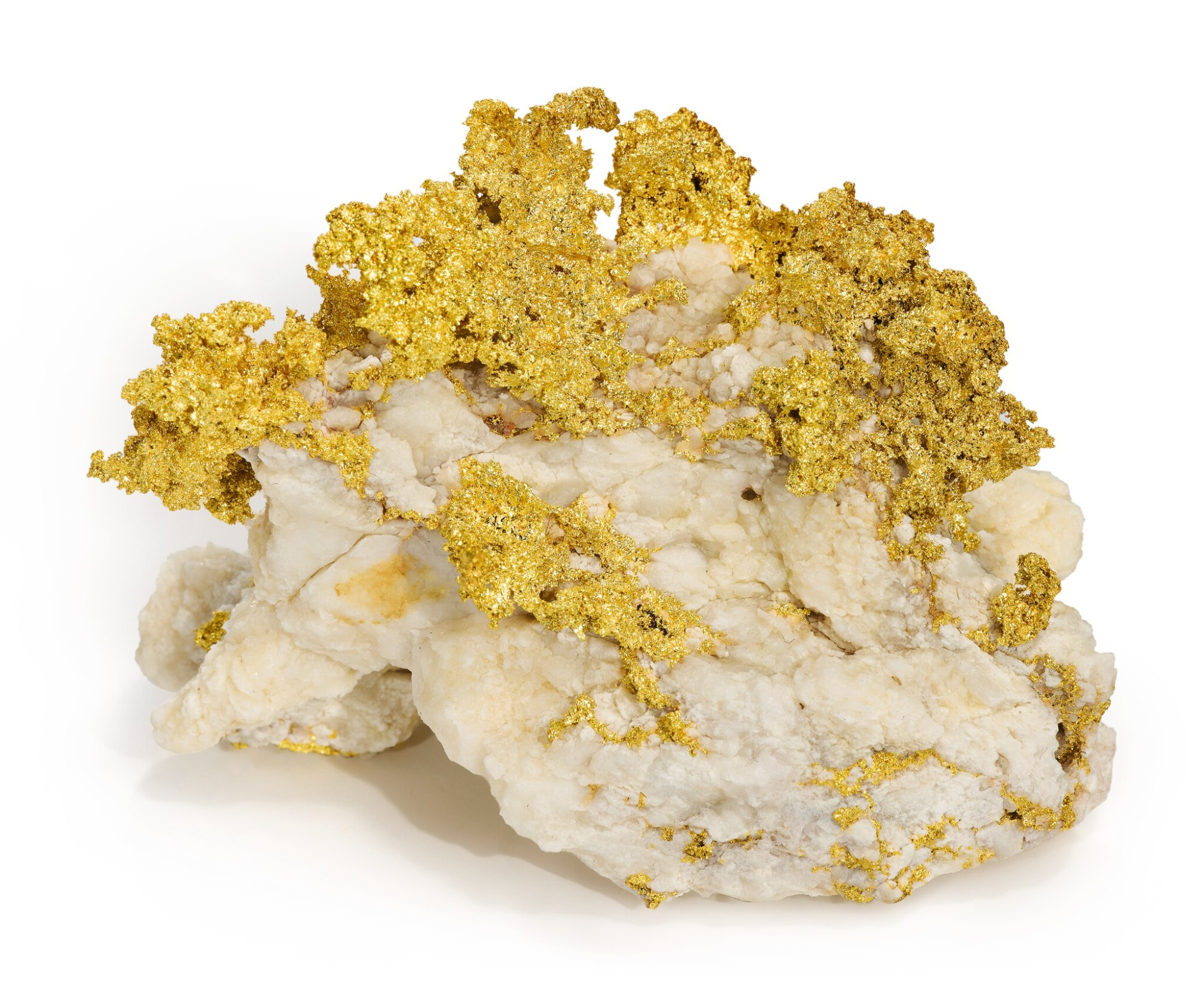 CLASSIC GOLD IN QUARTZ SPECIMEN