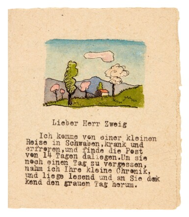 View 4. Thumbnail of Lot 82. Hermann Hesse, Highly important series of 62 letters and postcards to Stefan Zweig, 1903-1938.