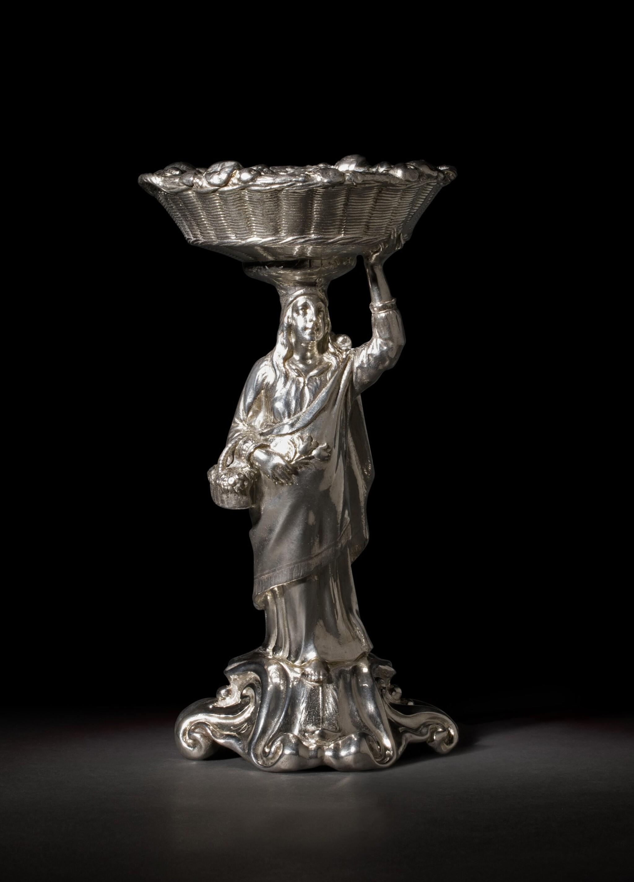 View full screen - View 1 of Lot 2. Flora: An Important Dutch silver standing salt, Adam van Vianen, (Utrecht), 1621.