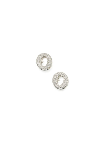 PAIR OF DIAMOND 'SEVILLANA' CUFFLINKS, ELSA PERETTI FOR TIFFANY & CO.