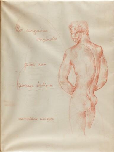 RENÉ BOLLINGER | A UNIQUE EDITION OF TWENTY HOMOEROTIQUE SANGUINE DRAWINGS