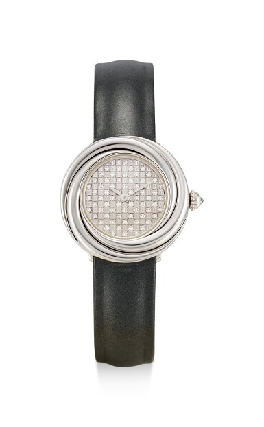 CARTIER | TRINITY, REFERENCE 2444, A WHITE GOLD AND DIAMOND-SET WRISTWATCH, CIRCA 2000