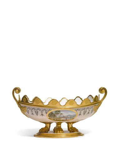A porcelain centrepiece, probably Imperial Porcelain Factory, St. Petersburg