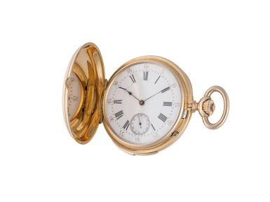 View 1. Thumbnail of Lot 80. H.R. EKEGREN | PINK GOLD HUNTING-CASED AND QUARTER-REPEATING WATCH CIRCA 1900 .