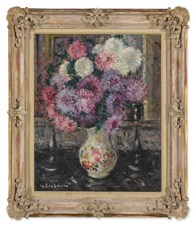 View 2. Thumbnail of Lot 8. Vase de fleurs.