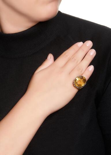 View 5. Thumbnail of Lot 40. CITRINE AND DIAMOND RING | STERLÉ, 1950S.