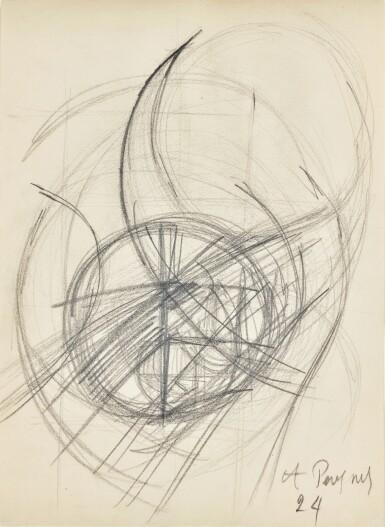View 1. Thumbnail of Lot 77. ANTOINE PEVSNER | Three Studies.