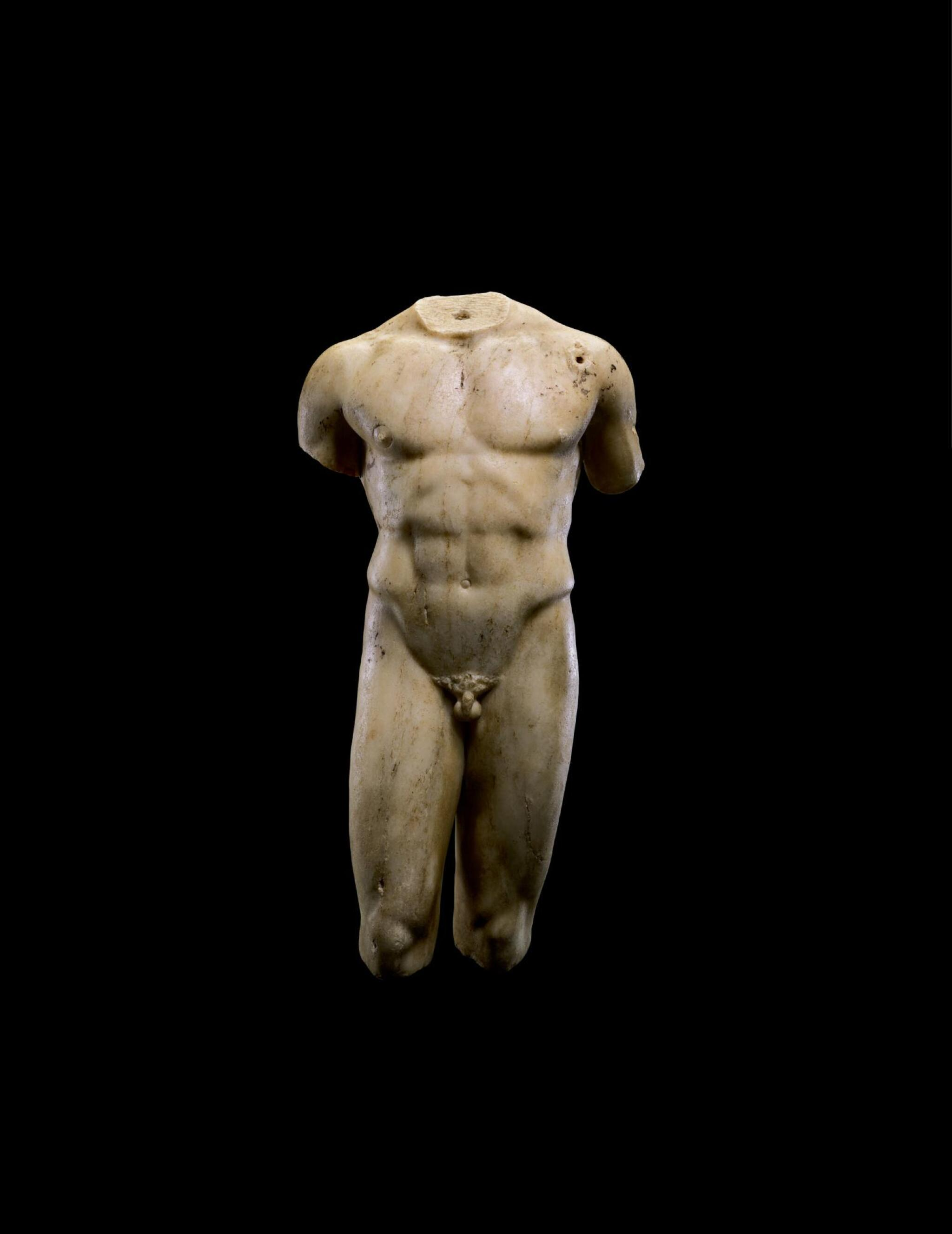 View full screen - View 1 of Lot 225. A ROMAN MARBLE TORSO OF A MAN, CIRCA 2ND CENTURY A.D..
